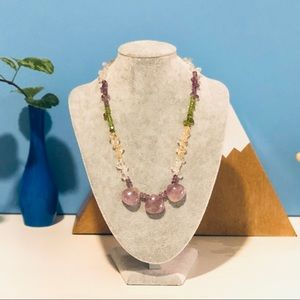 Jewelry - 📿 Amethyst, Garnet & Quartz Necklace